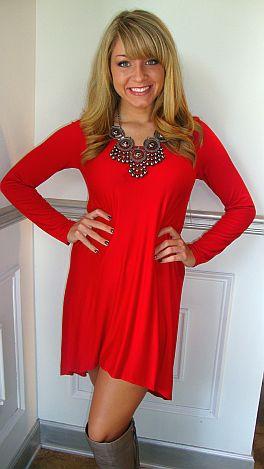 Ariel Dress Red