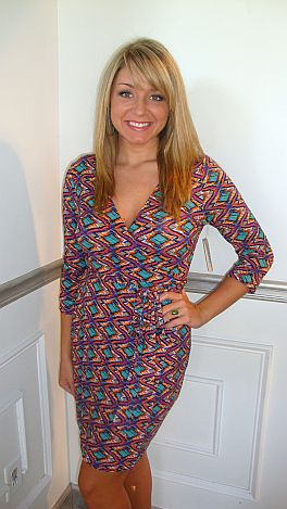 KARLIE Nine to Five Wrap Dress