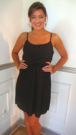 Basic Blouson Dress Black