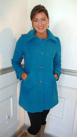Teal-Tabulous Coat