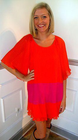Olivia Pleated Dress