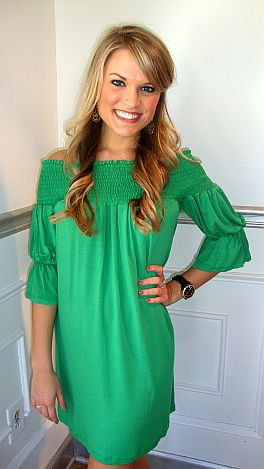 Above And Beyond Dress Green