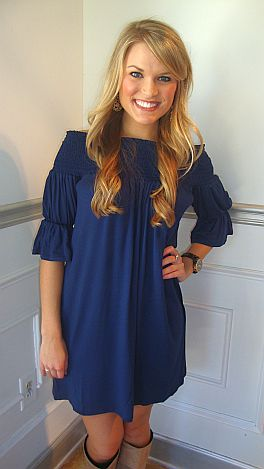Above And Beyond Dress Navy