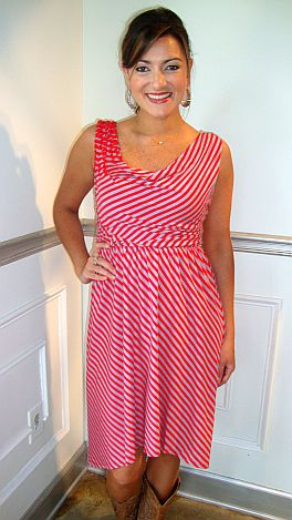 Striped Delight Dress, Red