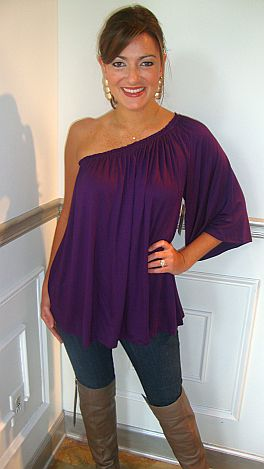 Sex And The City Top Purple