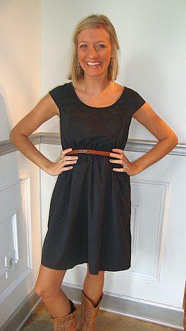Bra-Friendly Belted Dress