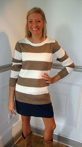 Latte' Stripes Sweater