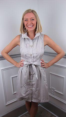 Kate Corset Back Dress, Gray