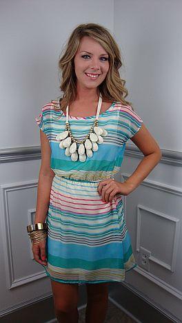 KARLIE Sweet As Honeydew Dress