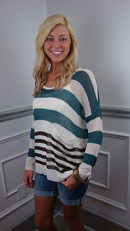 The Sally Sweater, Teal