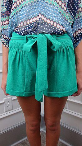 Cuff & Puff Shorts, Green