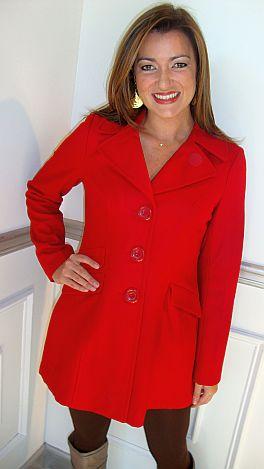 Top Notch Coat, Red