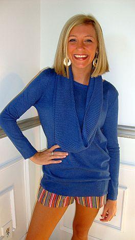 2-Piece Sweater Set Blue