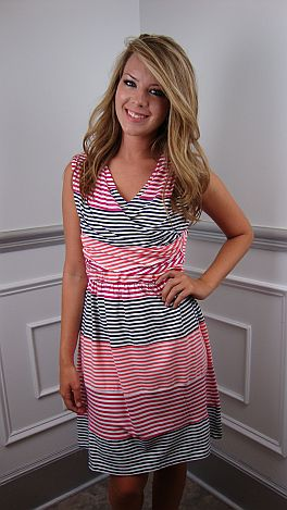 Stripe Up The Band Dress