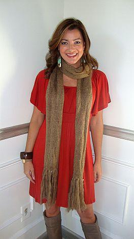 Slippery Slope Dress Rust