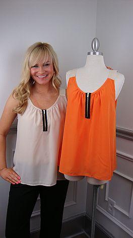 Shoulder Strap Cami, Orange