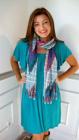 Slippery Slope Dress Teal