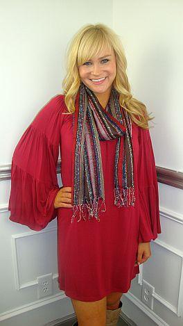 Joy To The World Dress, Crimson
