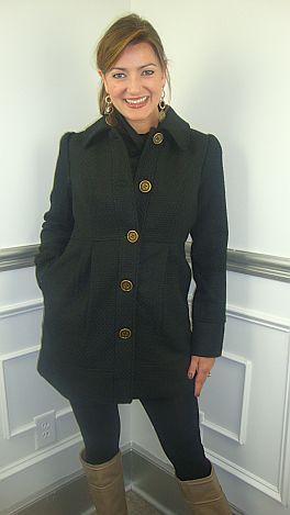 The Kimberly Coat, Black