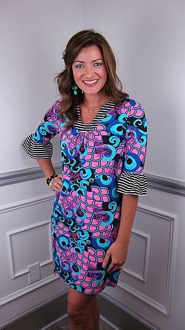 Tracy Stripe Trim Dress