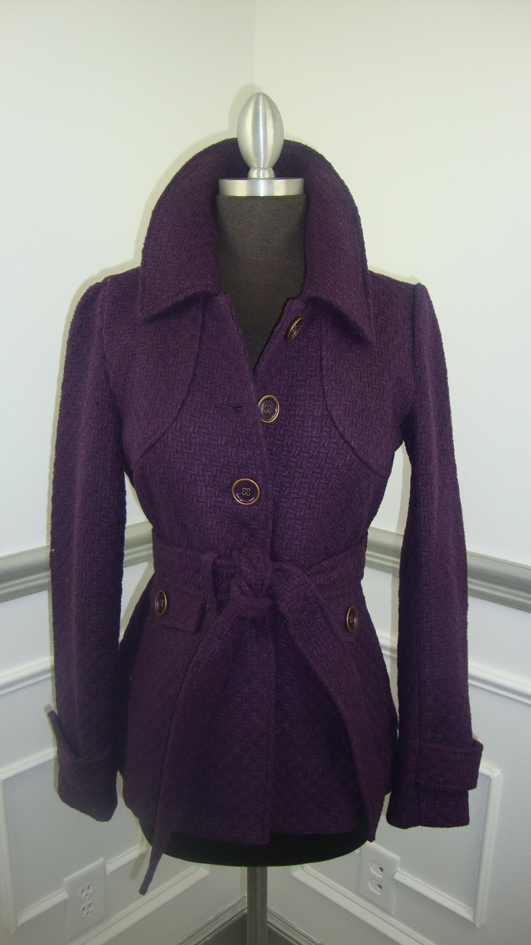 Eggplant Belted Coat