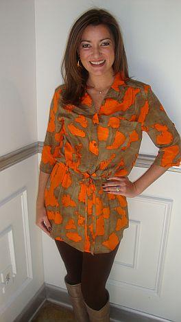 Chic Safari Dress, Orange