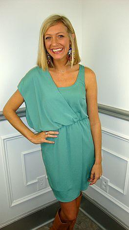 Oh-My-Goddess Dress, Green
