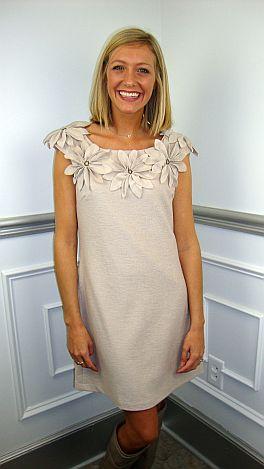 Poinsettia Shift Dress