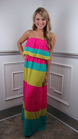 KARLIE New Kid On The Colorblock Maxi