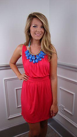 In A Cinch Dress, Coral