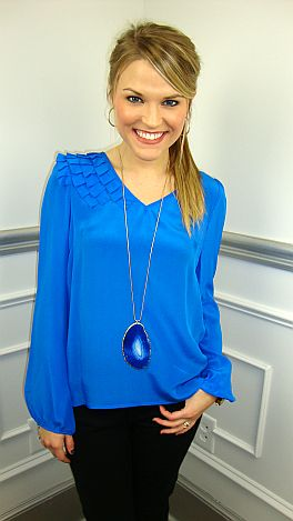Electric Blue Blouse