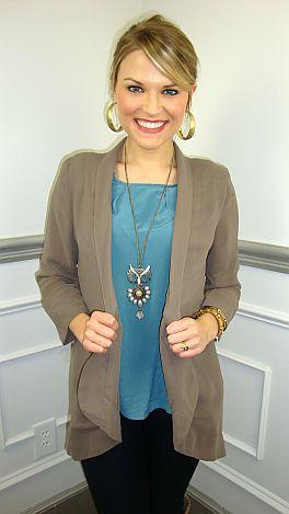Meryl Blazer Taupe