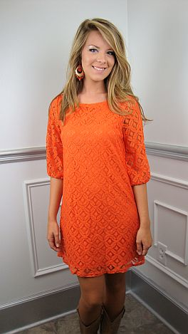 I State My Lace Dress, Orange