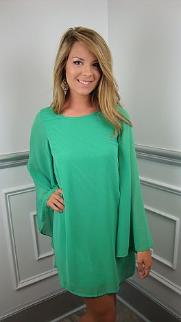 Go With The Flow Frock, Green