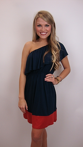 Best Basic One Shoulder, Navy
