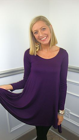 Taking Flight Tunic, Purple