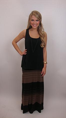 Mod Stripe Maxi Skirt