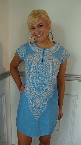 Ashley Blue Embroidery Shift