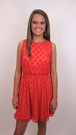 Lots of Dots Dress, Red