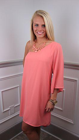 Sorbet Single Sleeve Dress