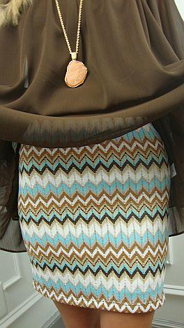 Turquoise Flirt Skirt