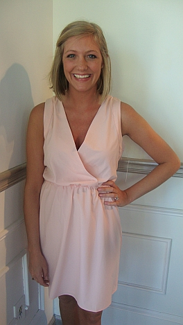 Fringe-back Blush Dress