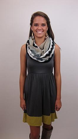 Bottom Line Dress, Charcoal