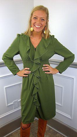 Rosemary Dress, Olive