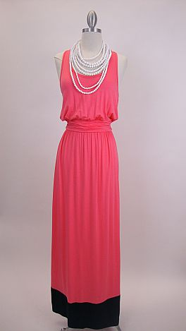 Colorblock Maxi, Pink/Navy