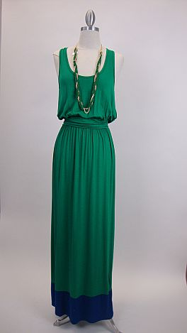 Colorblock Maxi, Kelly/Royal