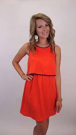 In A Rush Dress, Orange