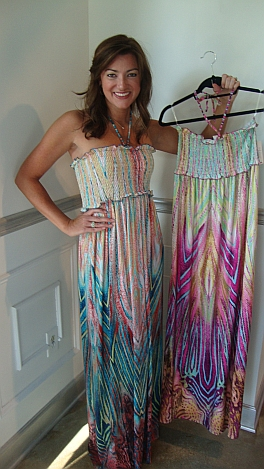 Slinky Psychodelic Maxi Dress