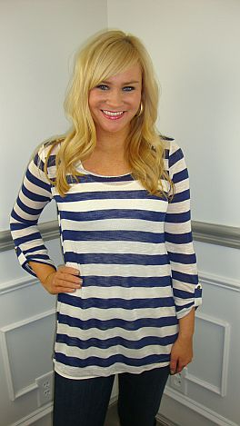 All Aboard Sweater, Navy