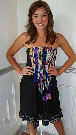 Purple Tribal Tube Dress